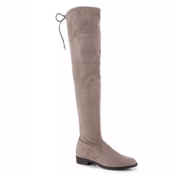 d50762cbea6 NEW Unisa Adivan (Suede) Taupe Over The Knee Boot